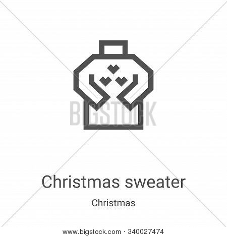 christmas sweater icon isolated on white background from christmas collection. christmas sweater ico