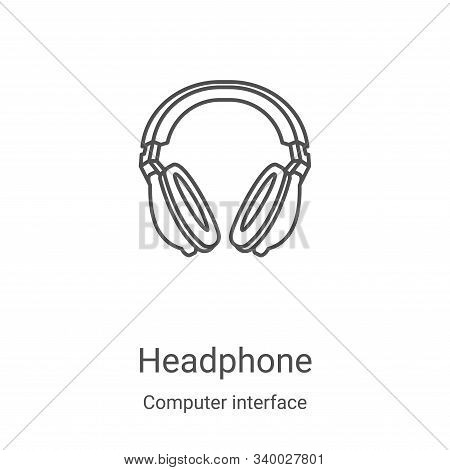 headphone icon isolated on white background from computer interface collection. headphone icon trend
