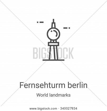 fernsehturm berlin icon isolated on white background from world landmarks collection. fernsehturm be