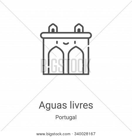aguas livres icon vector from portugal collection. Thin line aguas livres outline icon vector illustration. Linear symbol for use on web and mobile apps, logo, print media poster