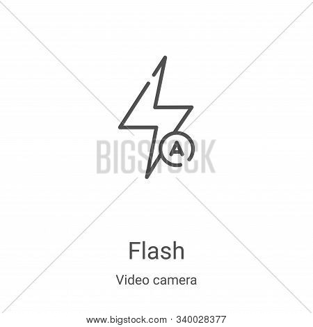 flash icon isolated on white background from video camera collection. flash icon trendy and modern f