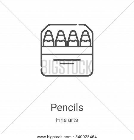 pencils icon isolated on white background from fine arts collection. pencils icon trendy and modern