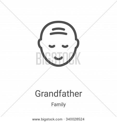 grandfather icon isolated on white background from family collection. grandfather icon trendy and mo