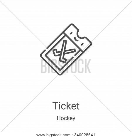 ticket icon isolated on white background from hockey collection. ticket icon trendy and modern ticke