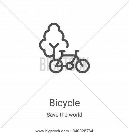 bicycle icon isolated on white background from save the world collection. bicycle icon trendy and mo