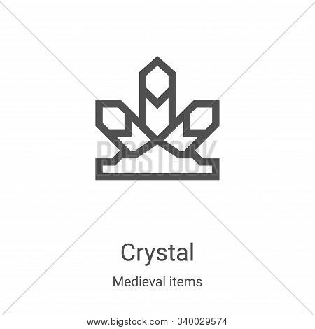 crystal icon isolated on white background from medieval items collection. crystal icon trendy and mo