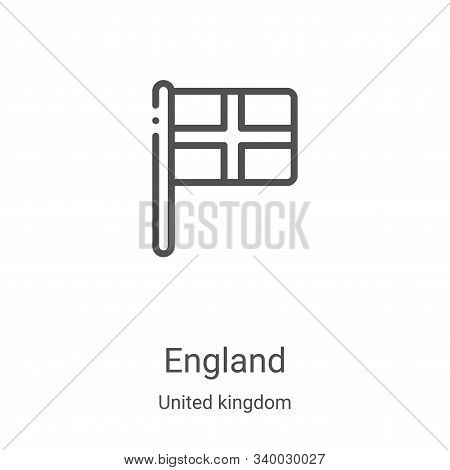 england icon isolated on white background from united kingdom collection. england icon trendy and mo