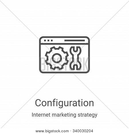 configuration icon isolated on white background from internet marketing strategy collection. configu