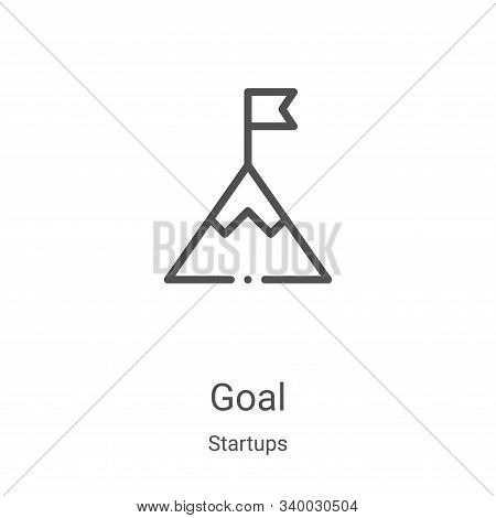 goal icon isolated on white background from startups collection. goal icon trendy and modern goal sy