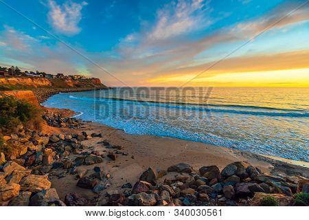 Christies Beach Coastal View At Sunset, South Australia