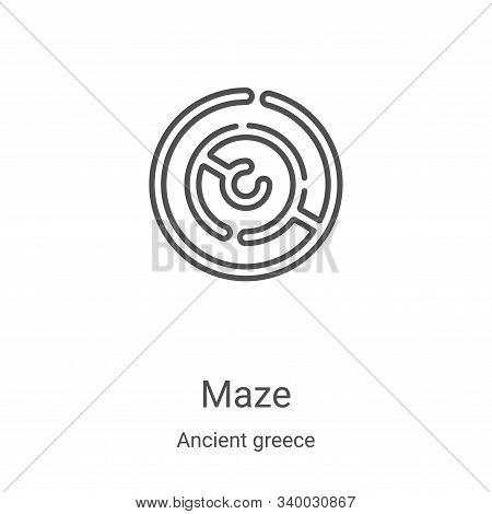 maze icon isolated on white background from ancient greece collection. maze icon trendy and modern m