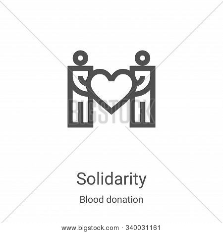 Solidarity icon isolated on white background from blood donation collection. Solidarity icon trendy