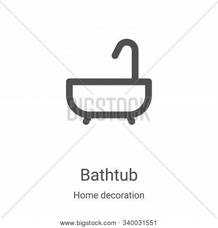 bathtub icon isolated on white background from home decoration collection. bathtub icon trendy and m