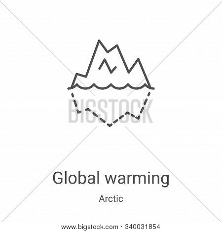 global warming icon isolated on white background from arctic collection. global warming icon trendy