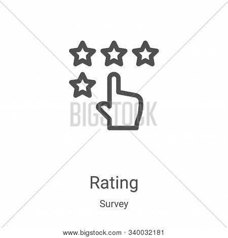 rating icon isolated on white background from survey collection. rating icon trendy and modern ratin