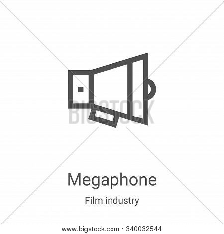 megaphone icon isolated on white background from film industry collection. megaphone icon trendy and