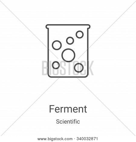 ferment icon isolated on white background from scientific collection. ferment icon trendy and modern