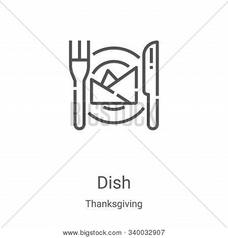 dish icon isolated on white background from thanksgiving collection. dish icon trendy and modern dis