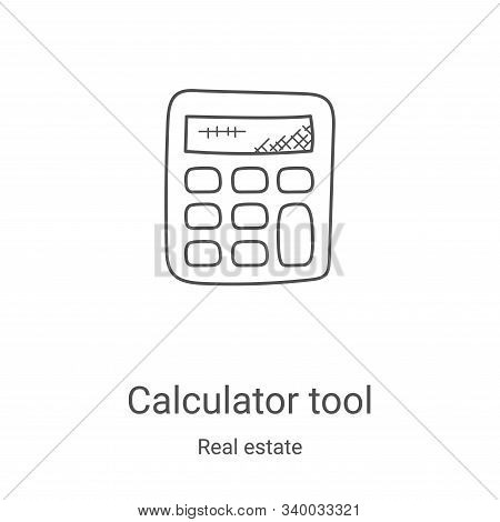 calculator tool icon isolated on white background from real estate collection. calculator tool icon