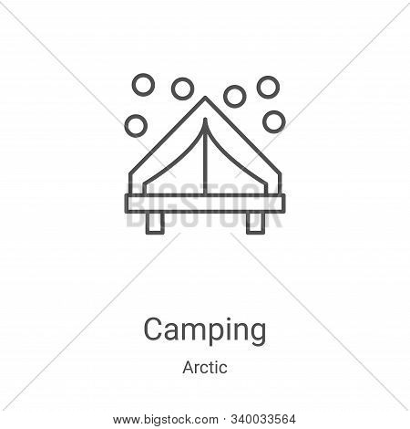 camping icon isolated on white background from arctic collection. camping icon trendy and modern cam