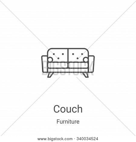 couch icon isolated on white background from furniture collection. couch icon trendy and modern couc