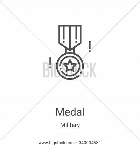 medal icon isolated on white background from military collection. medal icon trendy and modern medal