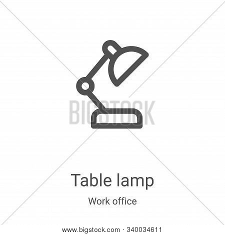 table lamp icon isolated on white background from work office collection. table lamp icon trendy and