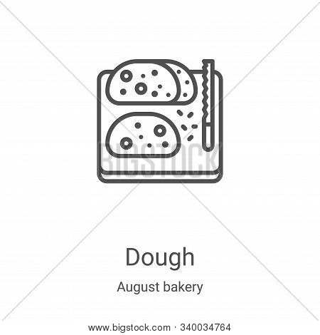 dough icon isolated on white background from august bakery collection. dough icon trendy and modern