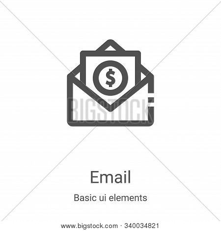 email icon isolated on white background from basic ui elements collection. email icon trendy and mod