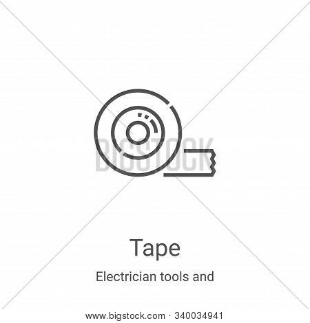 tape icon isolated on white background from electrician tools and elements collection. tape icon tre