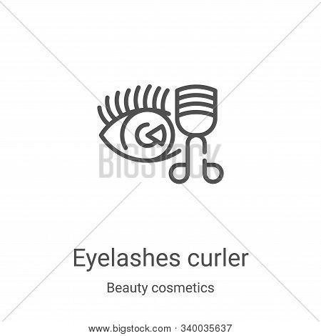 eyelashes curler icon isolated on white background from beauty cosmetics collection. eyelashes curle