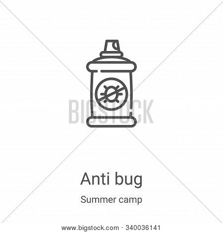 anti bug icon isolated on white background from summer camp collection. anti bug icon trendy and mod