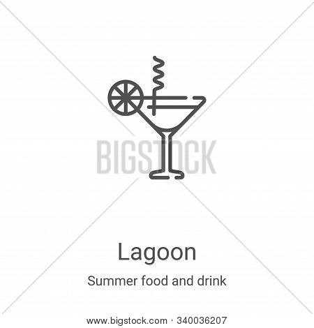 blue lagoon icon isolated on white background from summer food and drink collection. blue lagoon ico