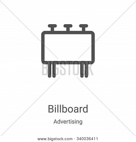 billboard icon isolated on white background from advertising collection. billboard icon trendy and m