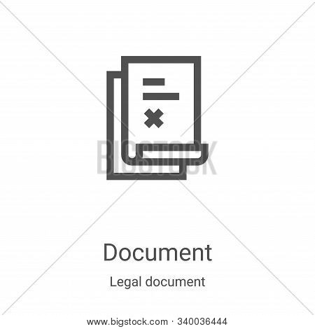 document icon isolated on white background from legal document collection. document icon trendy and