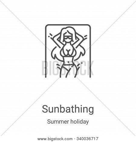 sunbathing icon isolated on white background from summer holiday collection. sunbathing icon trendy