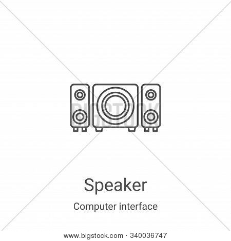speaker icon isolated on white background from computer interface collection. speaker icon trendy an