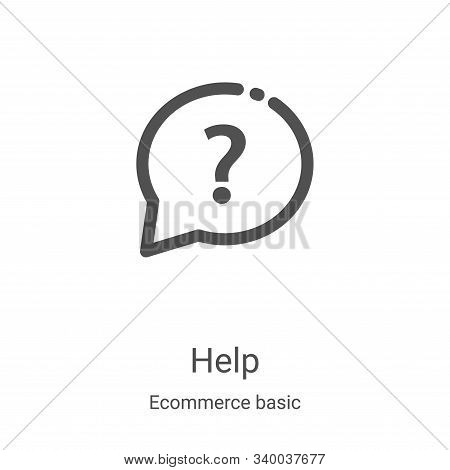 help icon isolated on white background from ecommerce basic collection. help icon trendy and modern