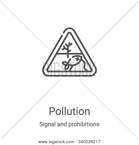 pollution icon isolated on white background from signal and prohibitions collection. pollution icon