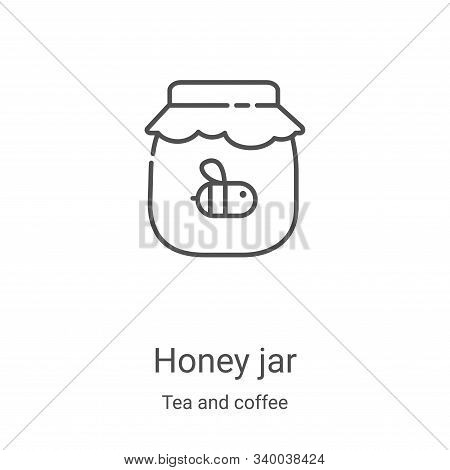 honey jar icon isolated on white background from tea and coffee collection. honey jar icon trendy an