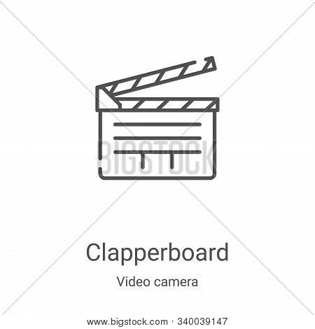 clapperboard icon isolated on white background from video camera collection. clapperboard icon trend