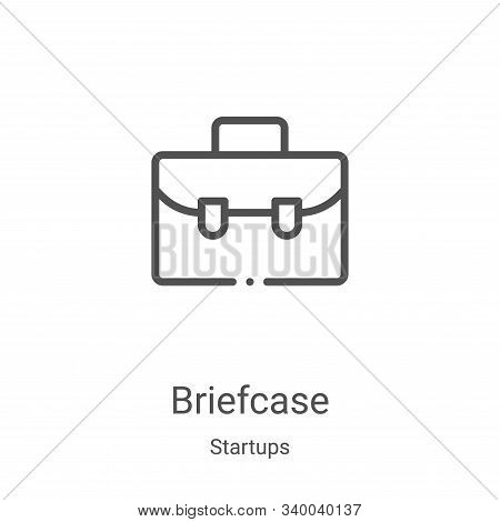 briefcase icon isolated on white background from startups collection. briefcase icon trendy and mode