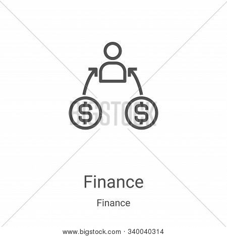 finance icon isolated on white background from finance collection. finance icon trendy and modern fi