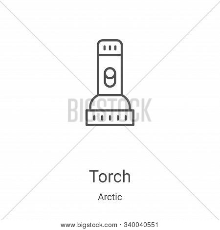 torch icon isolated on white background from arctic collection. torch icon trendy and modern torch s