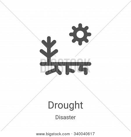 drought icon isolated on white background from disaster collection. drought icon trendy and modern d