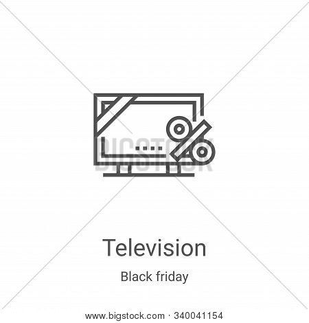 television icon isolated on white background from black friday collection. television icon trendy an