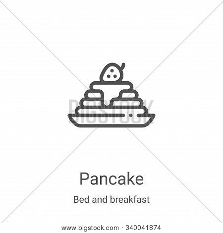 pancake icon isolated on white background from bed and breakfast collection. pancake icon trendy and