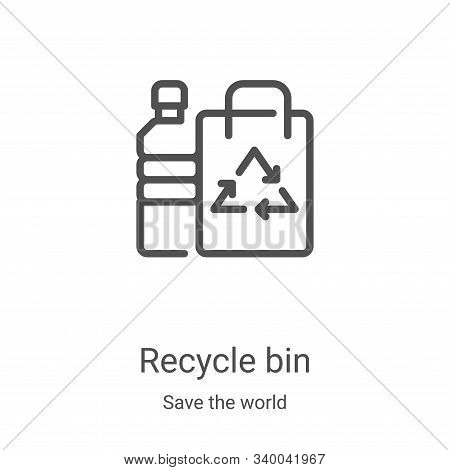 recycle bin icon isolated on white background from save the world collection. recycle bin icon trend