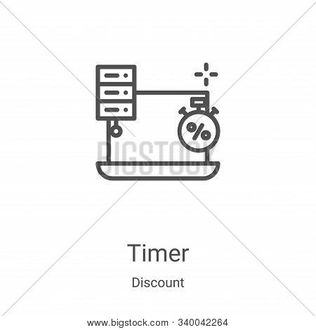 timer icon isolated on white background from discount collection. timer icon trendy and modern timer