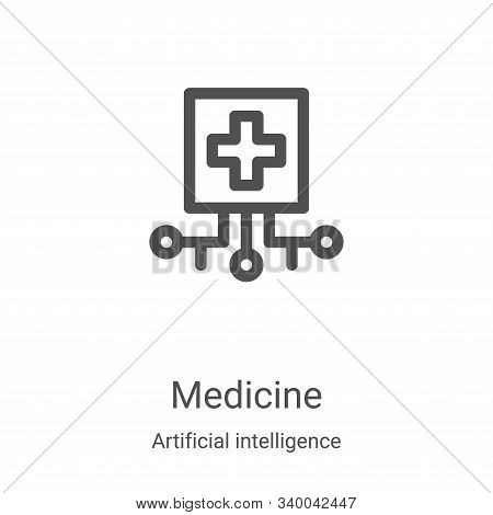medicine icon isolated on white background from artificial intelligence collection. medicine icon tr